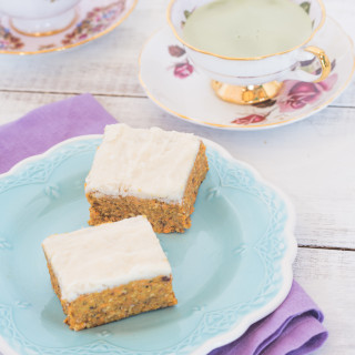 No-Bake Carrot Cake Squares with Lemon Icing
